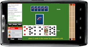 Playing Cribbage Club Online on android phone
