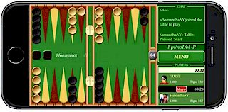 Playing Backgammon Live on iPhone